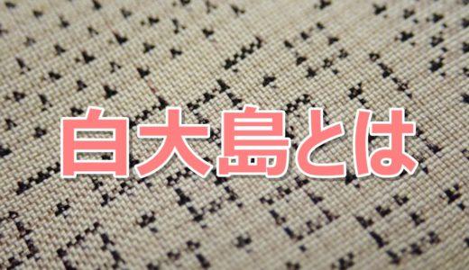白大島とは?新元号「令和」の有識者会議で宮崎緑さん着用の着物が話題!